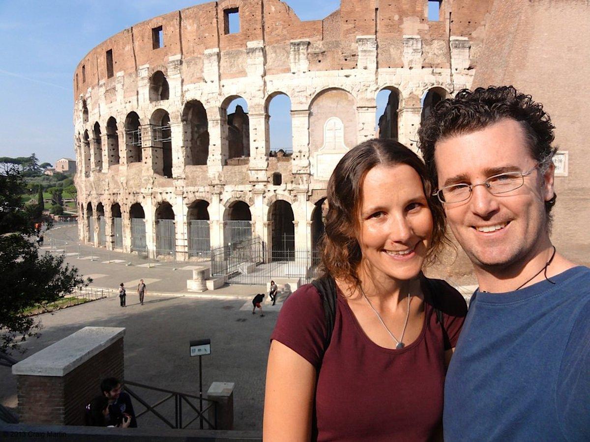 Craig and Linda in Rome