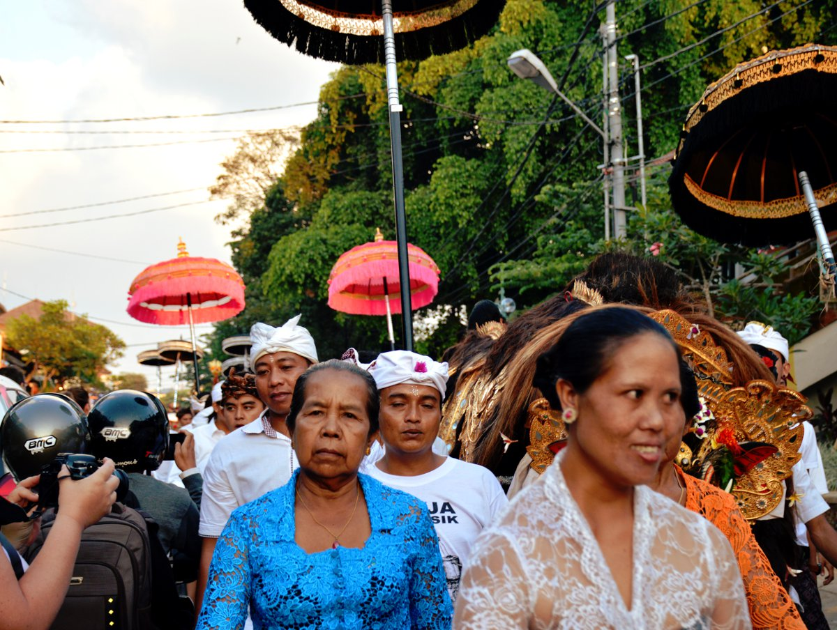 Crowded Balinese streets Double-Barrelled Travel
