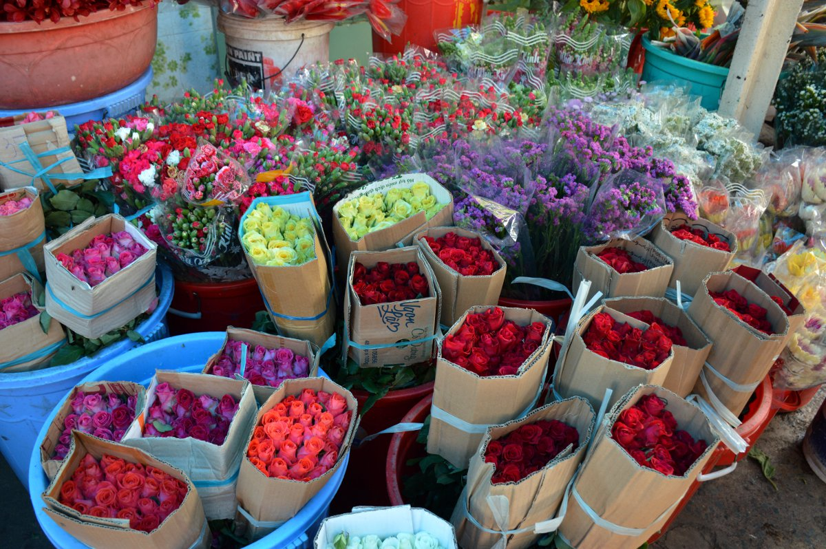 Flower market Saigon Double-Barrelled Travel