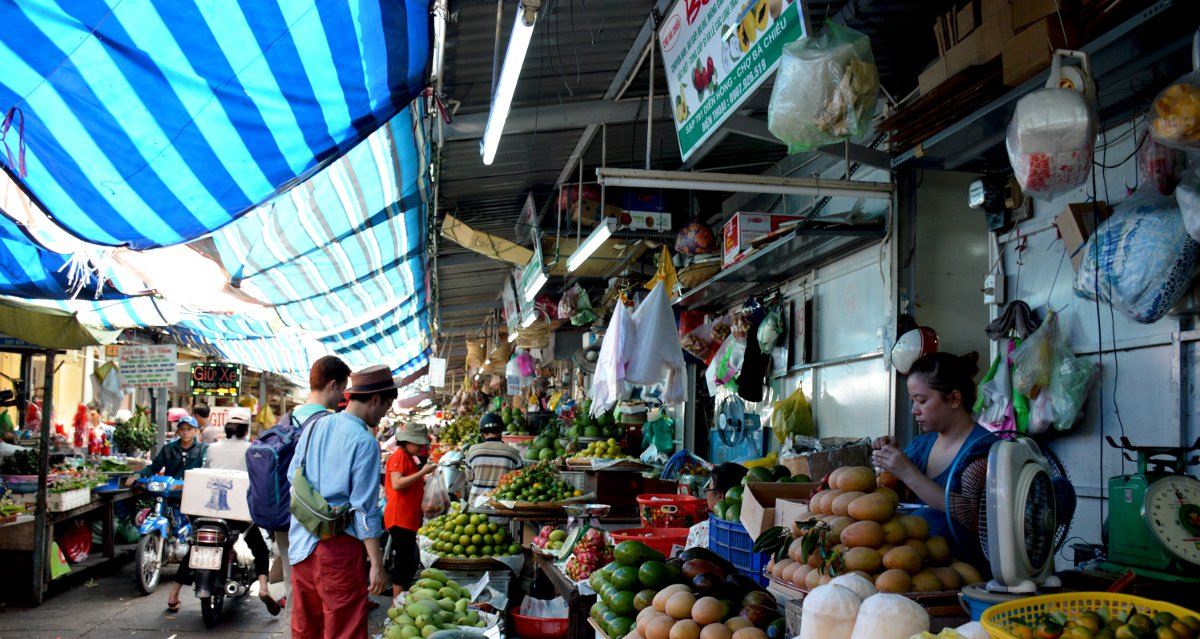 Market Saigon Street Eats Vietnam Double-Barrelled Travel