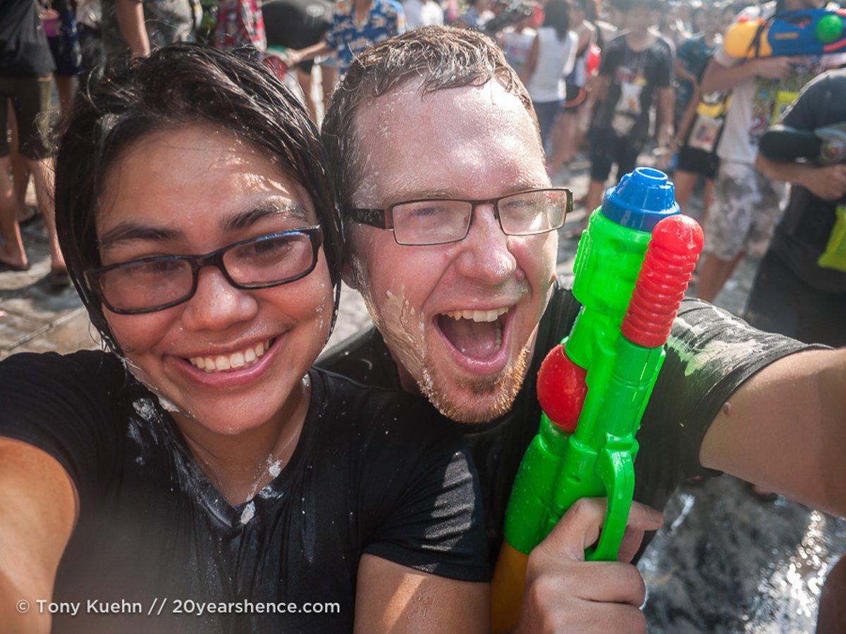 Stephenie in Bangkok for Songkran2