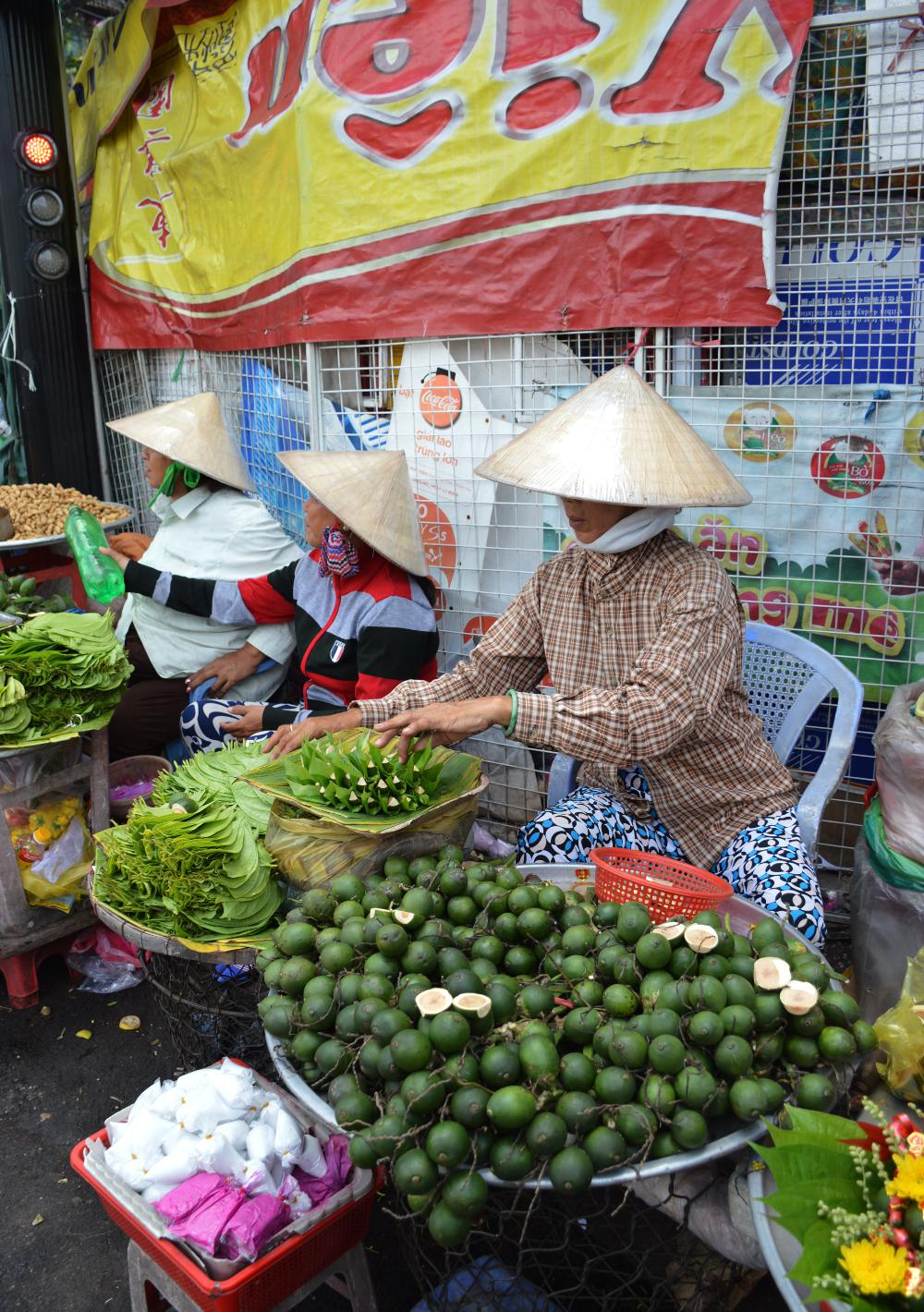 Women Market Saigon Street Eats Vietnam Double-Barrelled Travel
