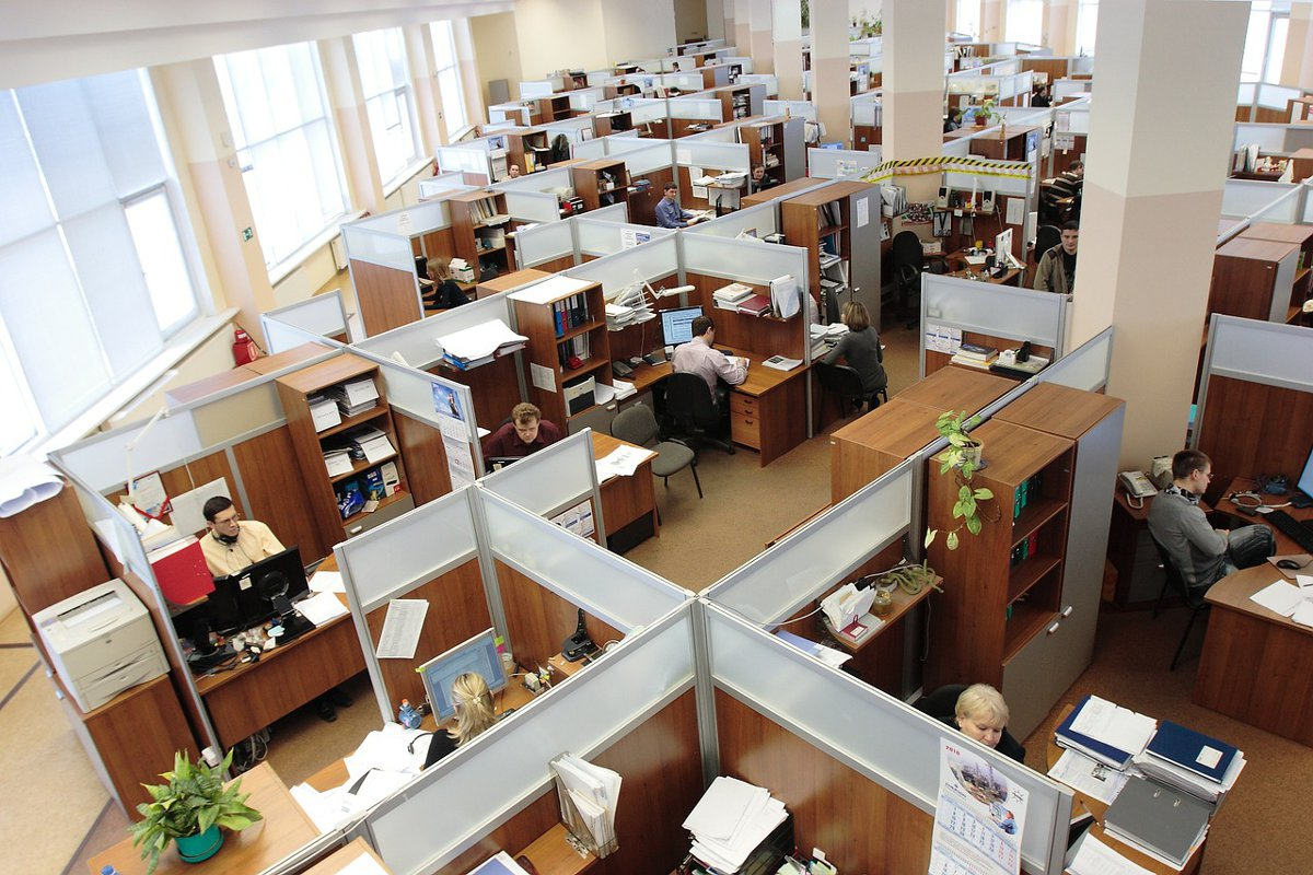 Office cubicles Double-Barrelled Travel