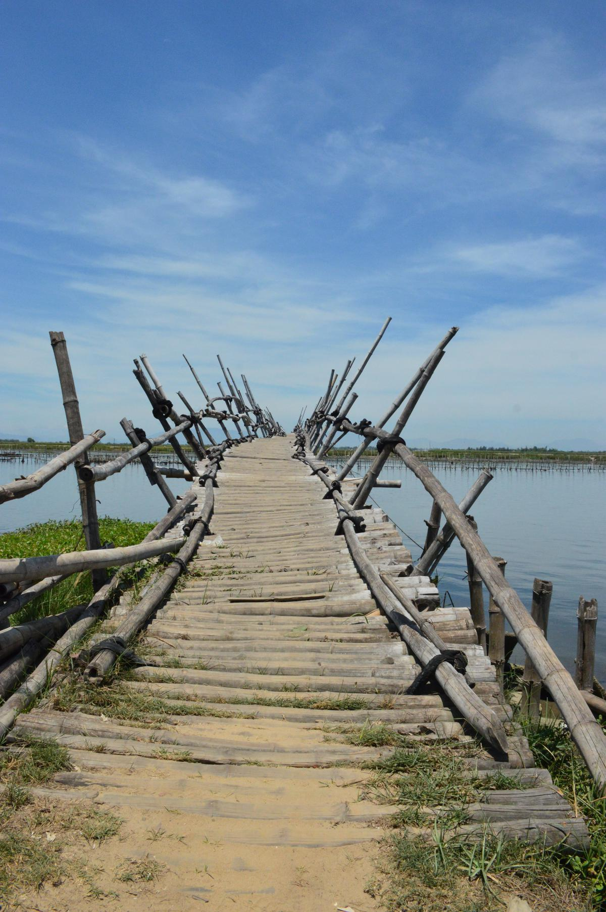 Vietnam Vespa Adventures bamboo bridge Hoi AN Double-Barrelled Travel