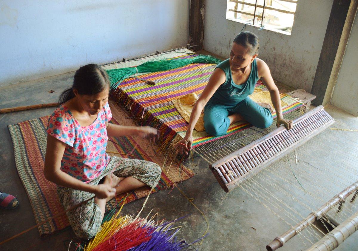 Vietnam Vespa Adventures weaving mats Double-Barrelled Travel