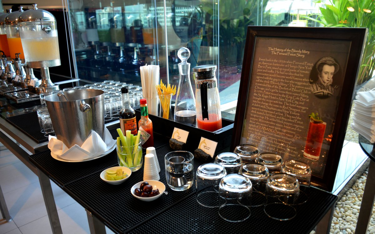 Bloody mary buffet Centara Watergate Pavillion Bangkok Double-Barrelled Travel