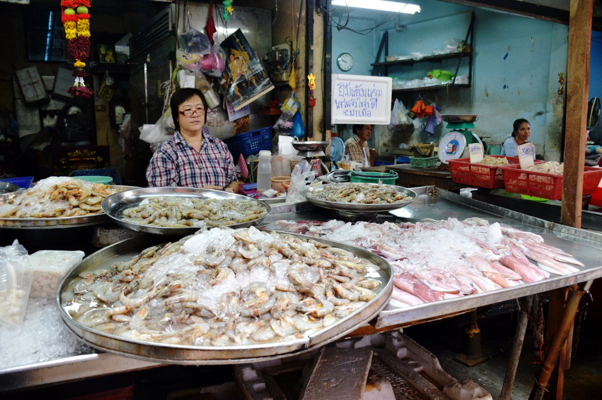 Fish market Silom Cooking School Double-Barrelled Travel
