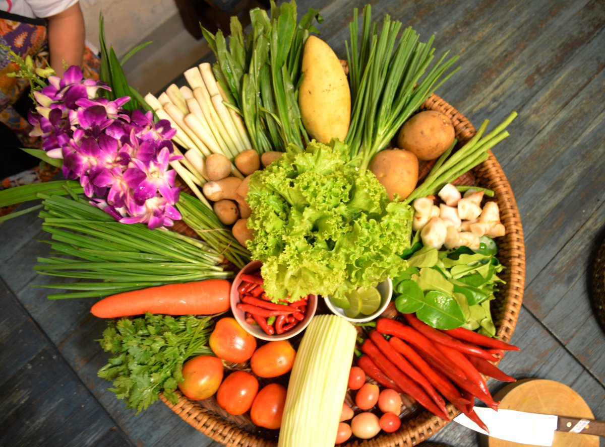 Fresh produce Silom Cooking School Double-Barrelled Travel