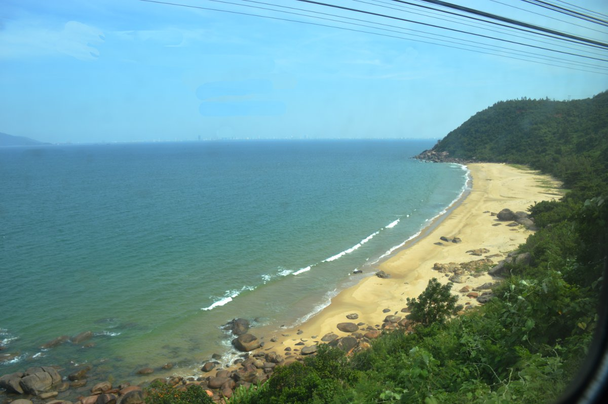 Vietnam train beach view Double-Barrelled Travel