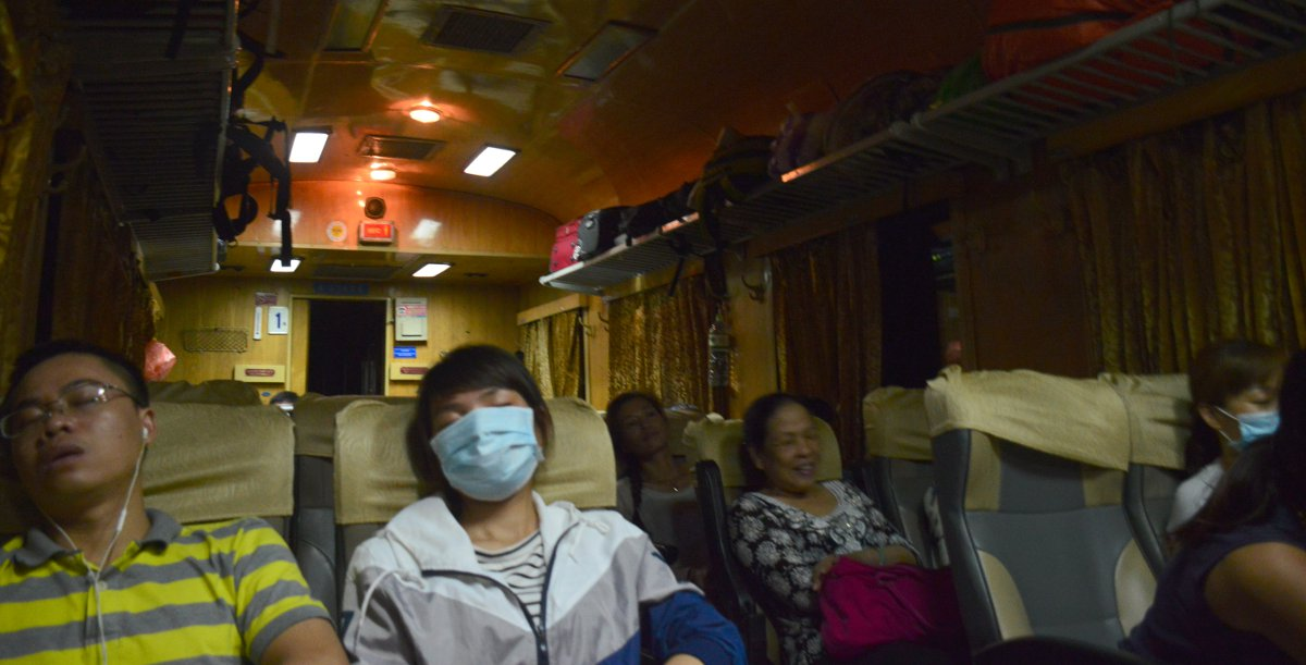 Vietnam train interior Double-Barrelled Travel