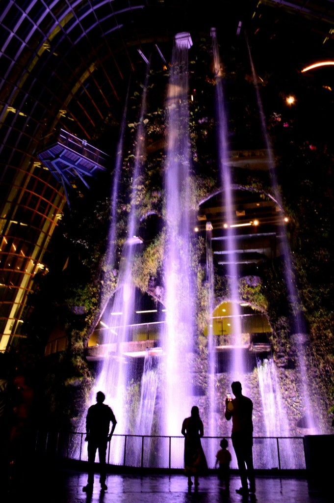 Gardens By The Bay waterfall Double-Barrelled Travel