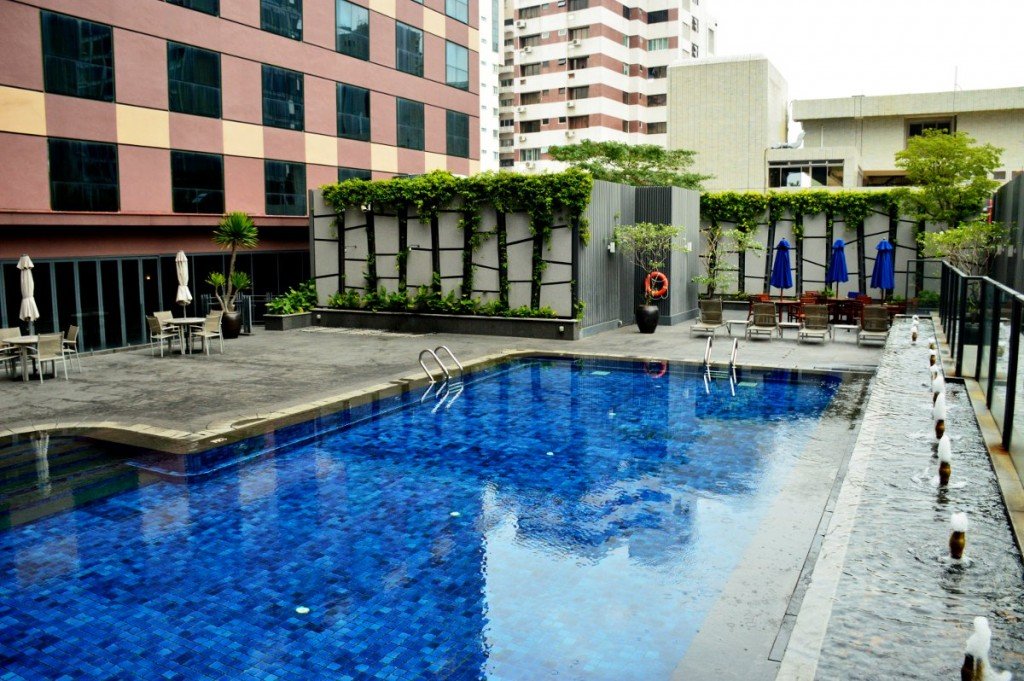 Grand Mecure Roxy pool Double-Barrelled Travel