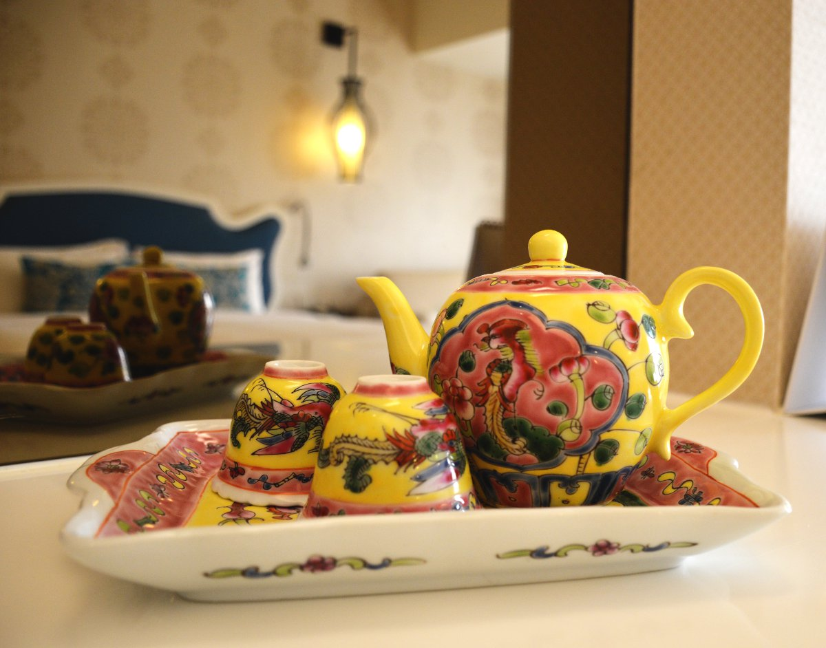 Village Hotel Katong tea cup Double-Barrelled Travel