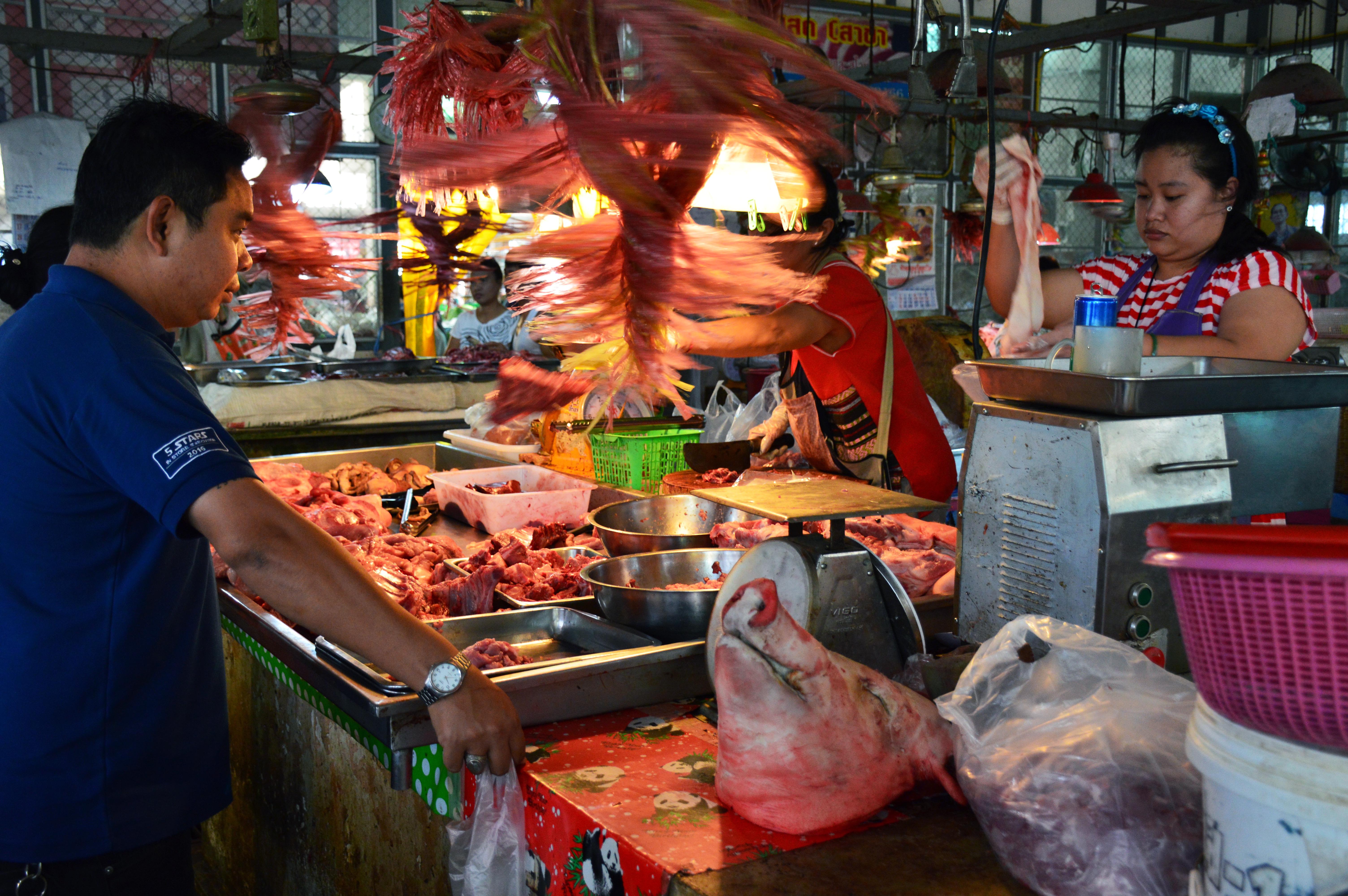 Butcher market Asia Scenic cooking school Double-Barrelled Travel