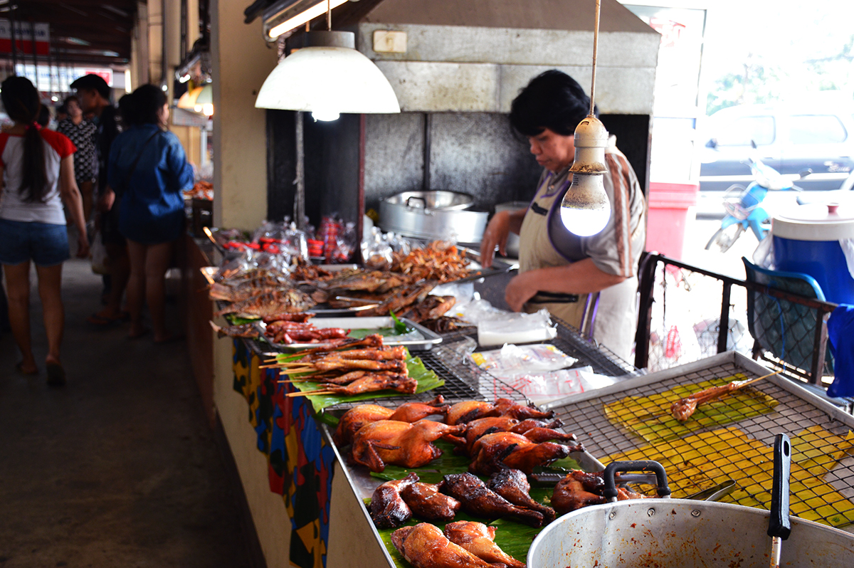 Chicken stall Asia Scenic cooking school Double-Barrelled Travel