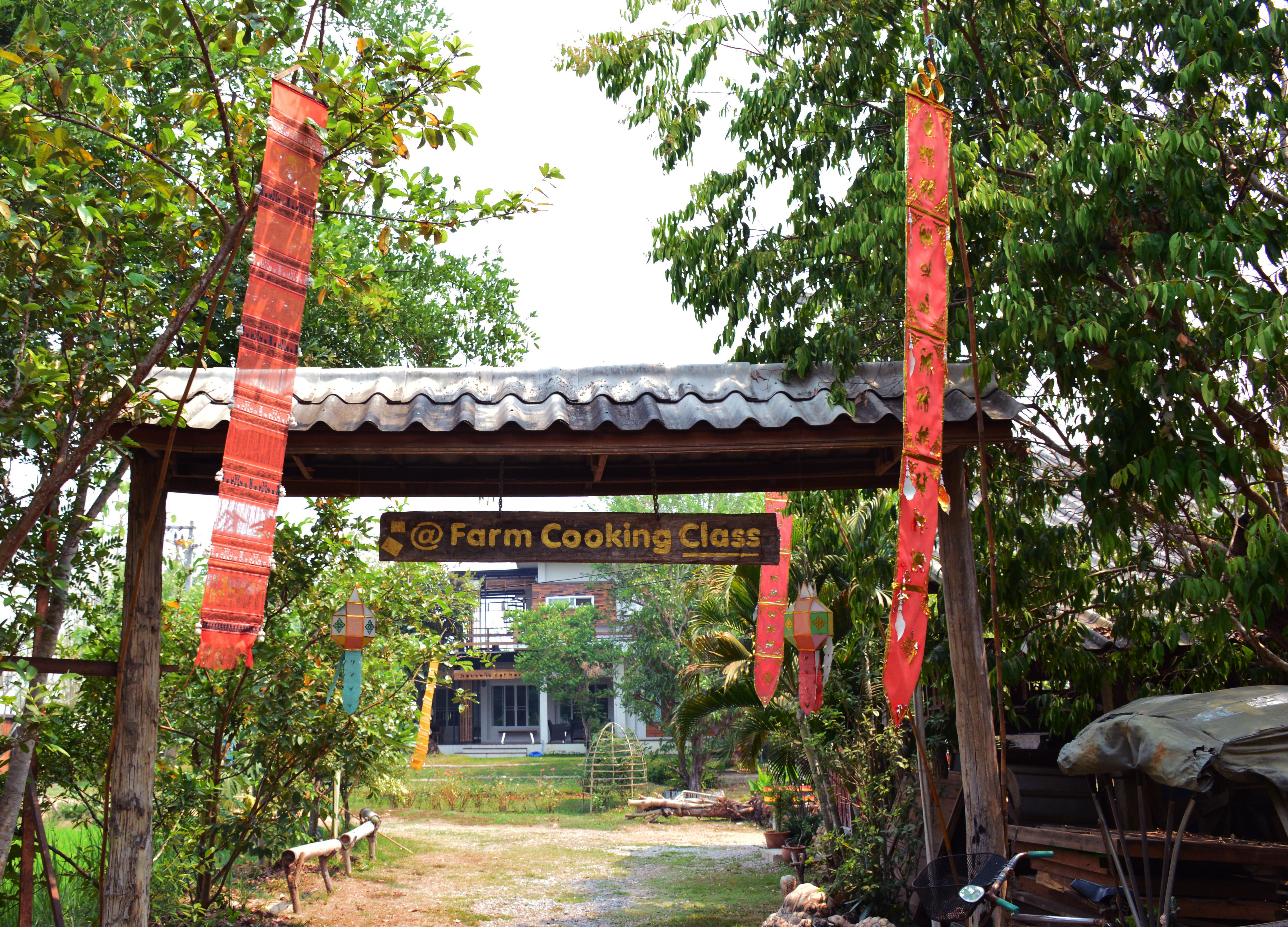 Farm entrance Asia Scenic cooking school Double-Barrelled Travel