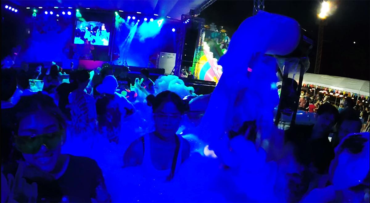 Foam fest Songkran Thai Water Festival Double-Barrelled Travel
