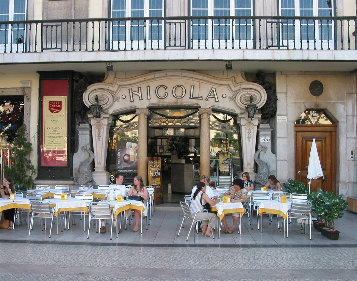 Lisbon cafe What to do in Lisbon by Cercamon Double-Barrelled Travel
