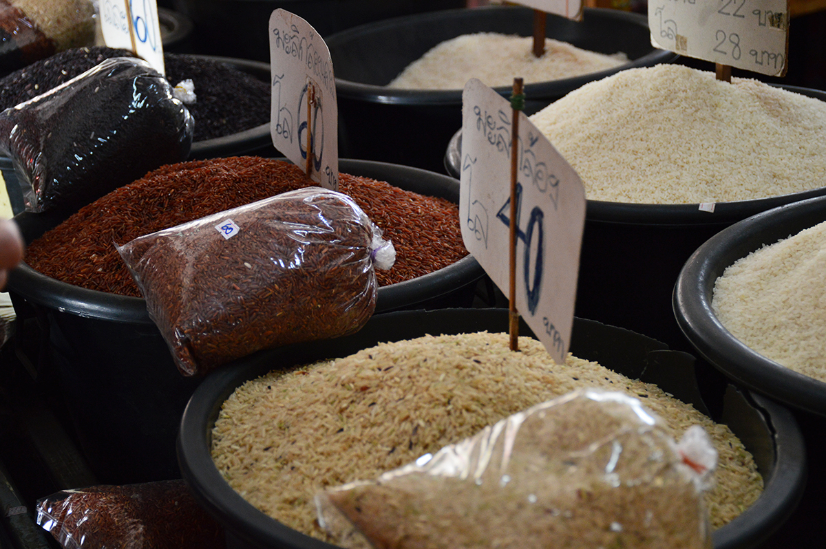 Rice market Asia Scenic cooking school Double-Barrelled Travel