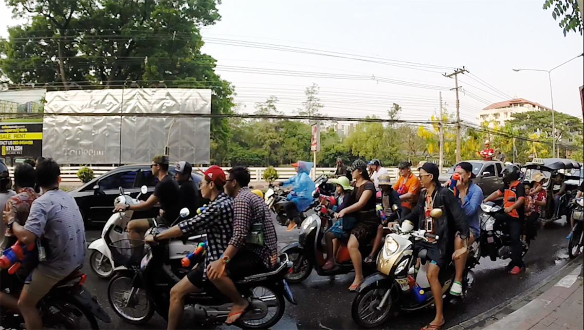 Scooters Songkran Thai Water Festival Double-Barrelled Travel