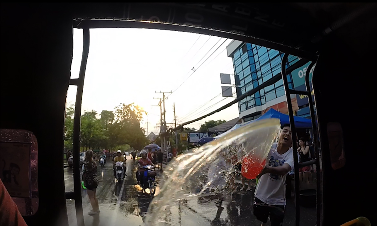 Songkran water fight Thai Water Festival Double-Barrelled Travel