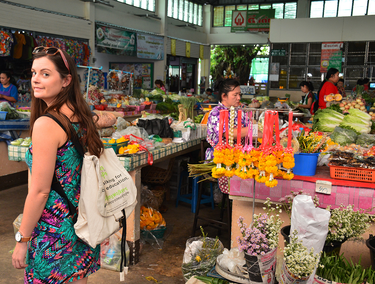 Thai market Asia Scenic cooking class Double-Barrelled Travel