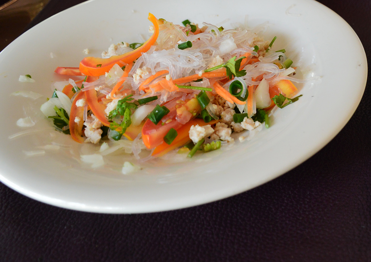 Thai salad Asia Scenic cooking school Double-Barrelled Travel