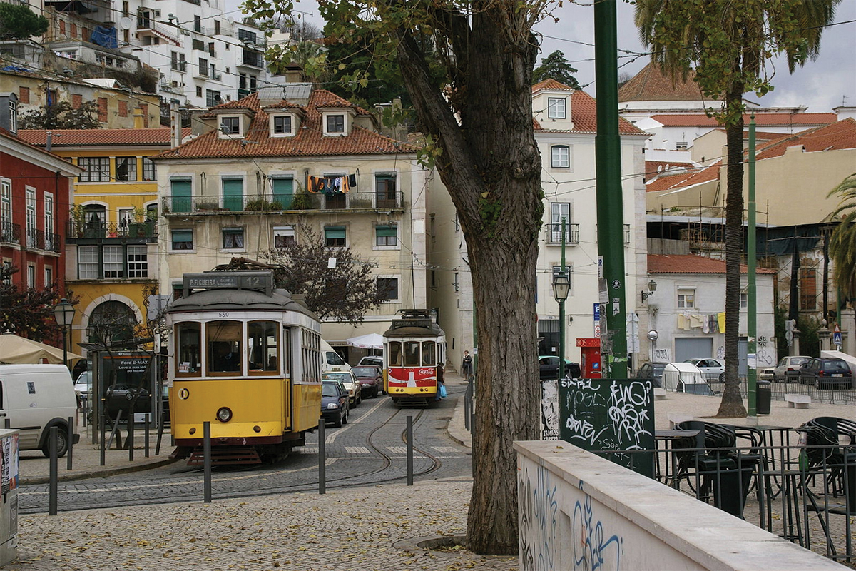 What to do in Lisbon trams Double-Barrelled Travel