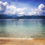 Gili Air mountain view from beach Double-Barrelled Travel