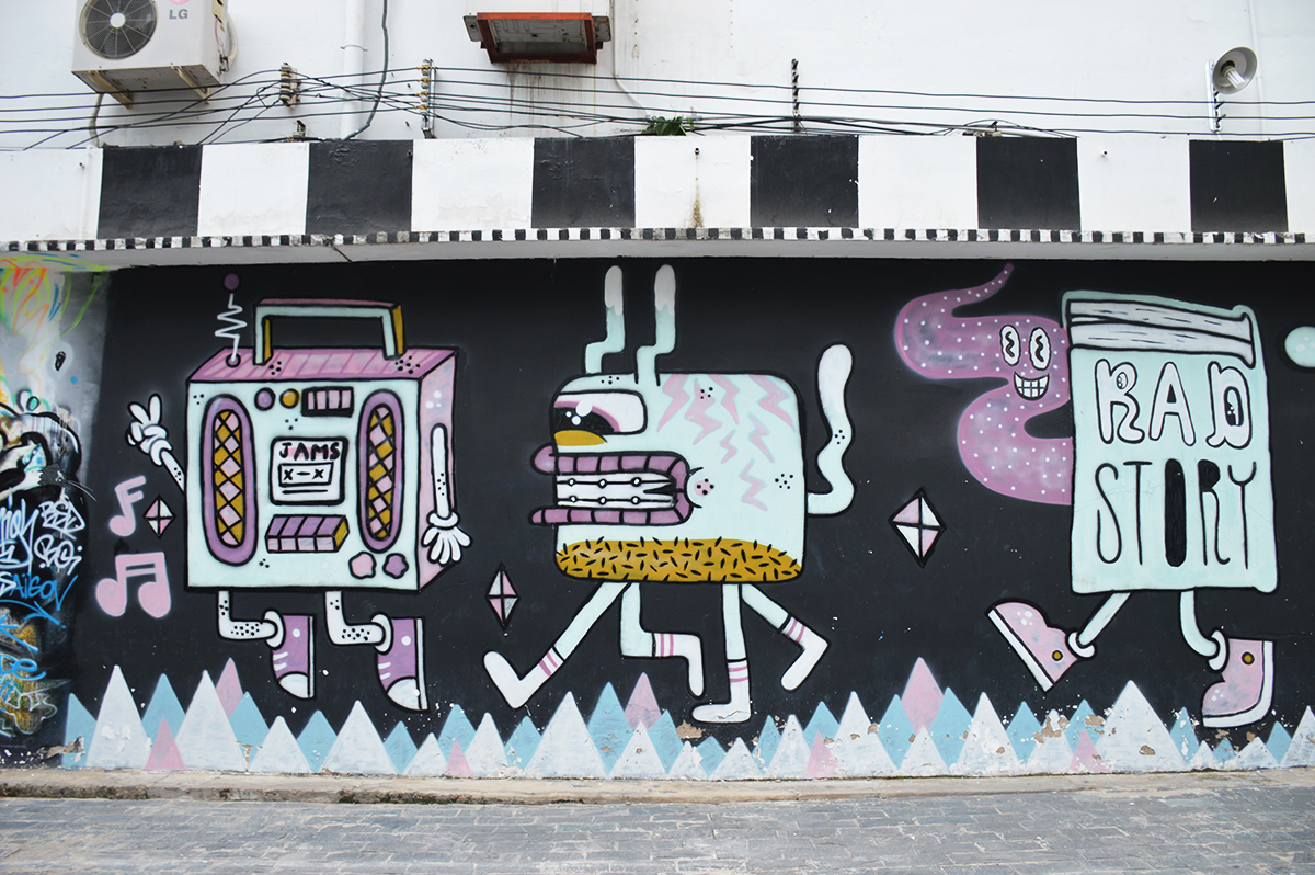 3A Station street art Things to do in Ho Chi Minh Double-Barrelled Travel
