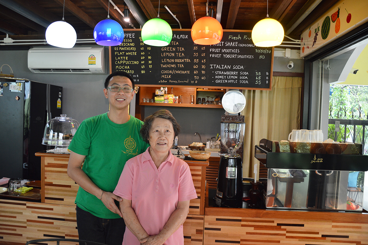 Cafes in Chiang Mai Coffee Plus mum son Double-Barrelled Travel