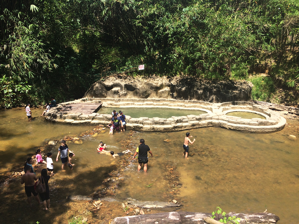 Things to do in Borneo Annah Rais hot springs Double-Barrelled Travel