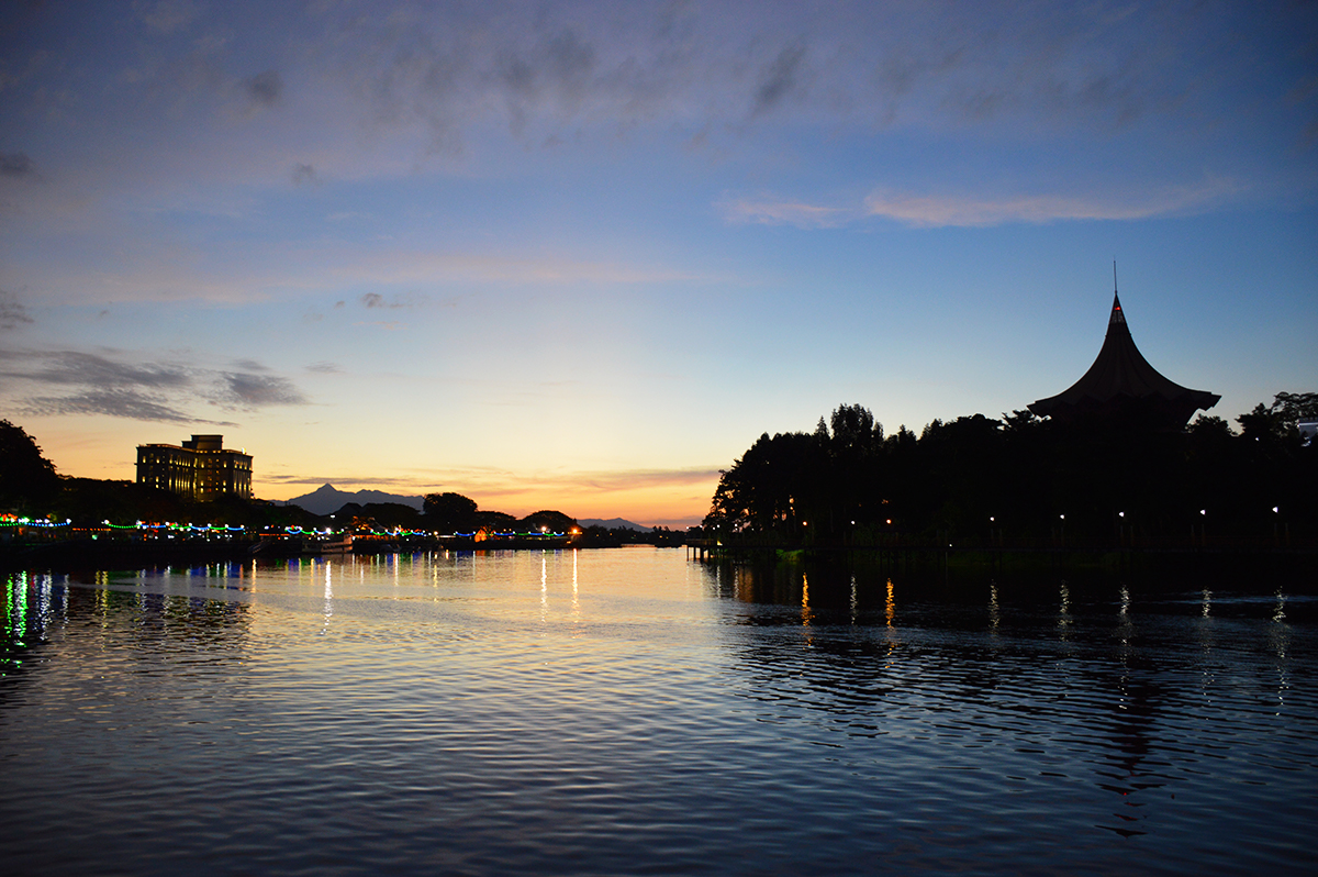 Things to do in Borneo Kuching waterfront Double-Barrelled Travel