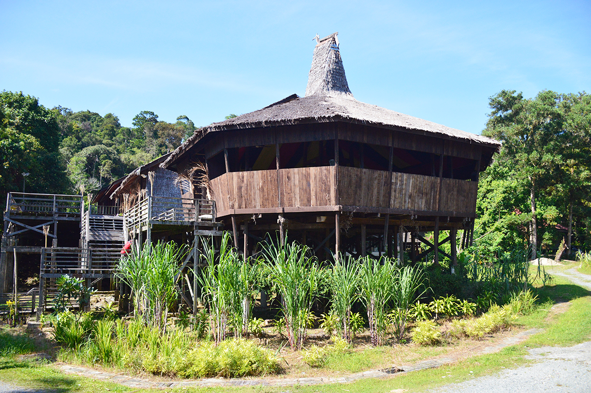 Things to do in Borneo Sarawak Cultural Centre hut Double-Barrelled Travel