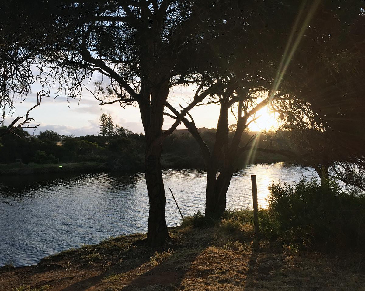 Geraldton sunset Double-barrelled travel
