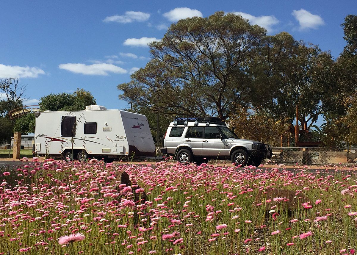 Jayco caravan and Land Rover Double-barrelled travel