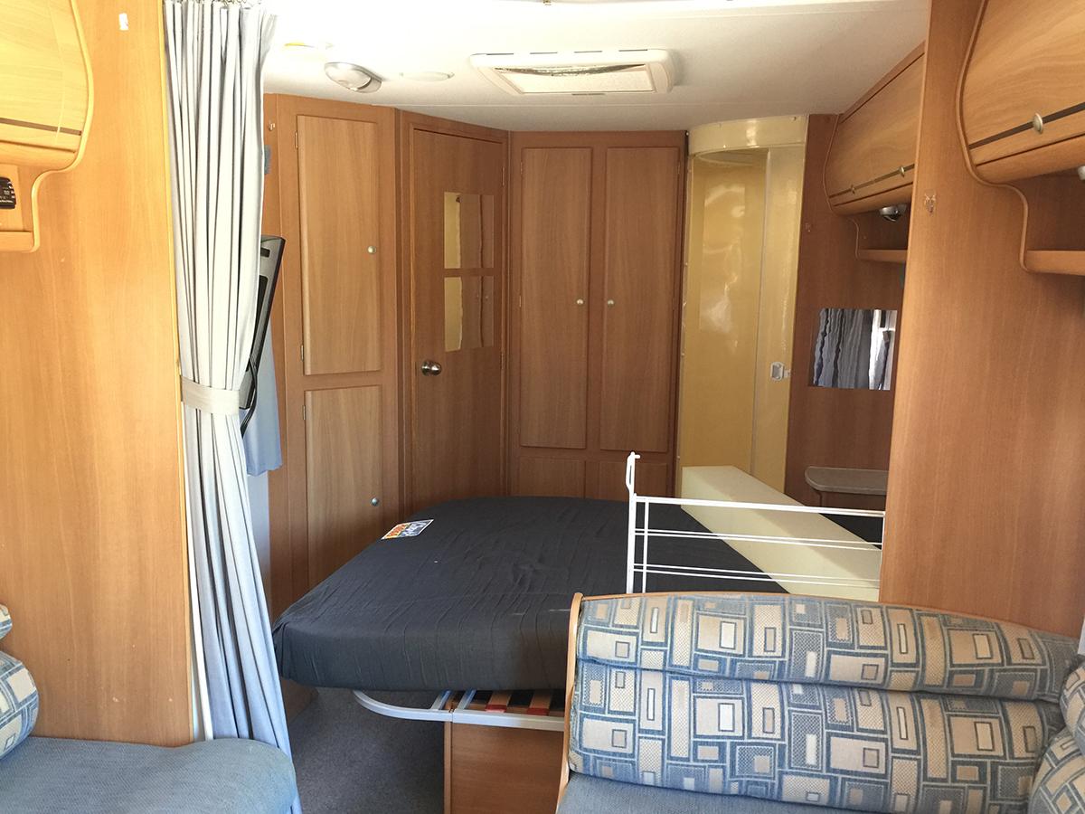 Before Caravan renovation Jayco Double-Barrelled Travel