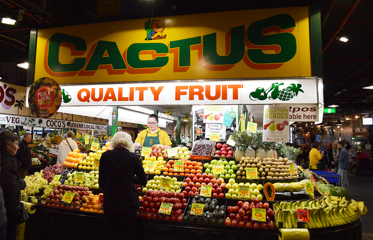Adelaide Central Market produce Double-Barrelled Travel