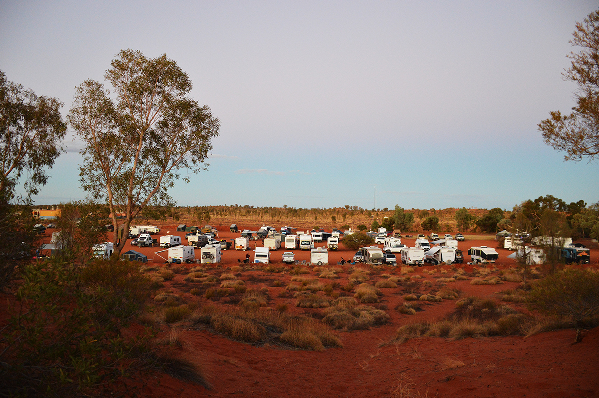 The overflow caravan area at Ayers Rock Campground