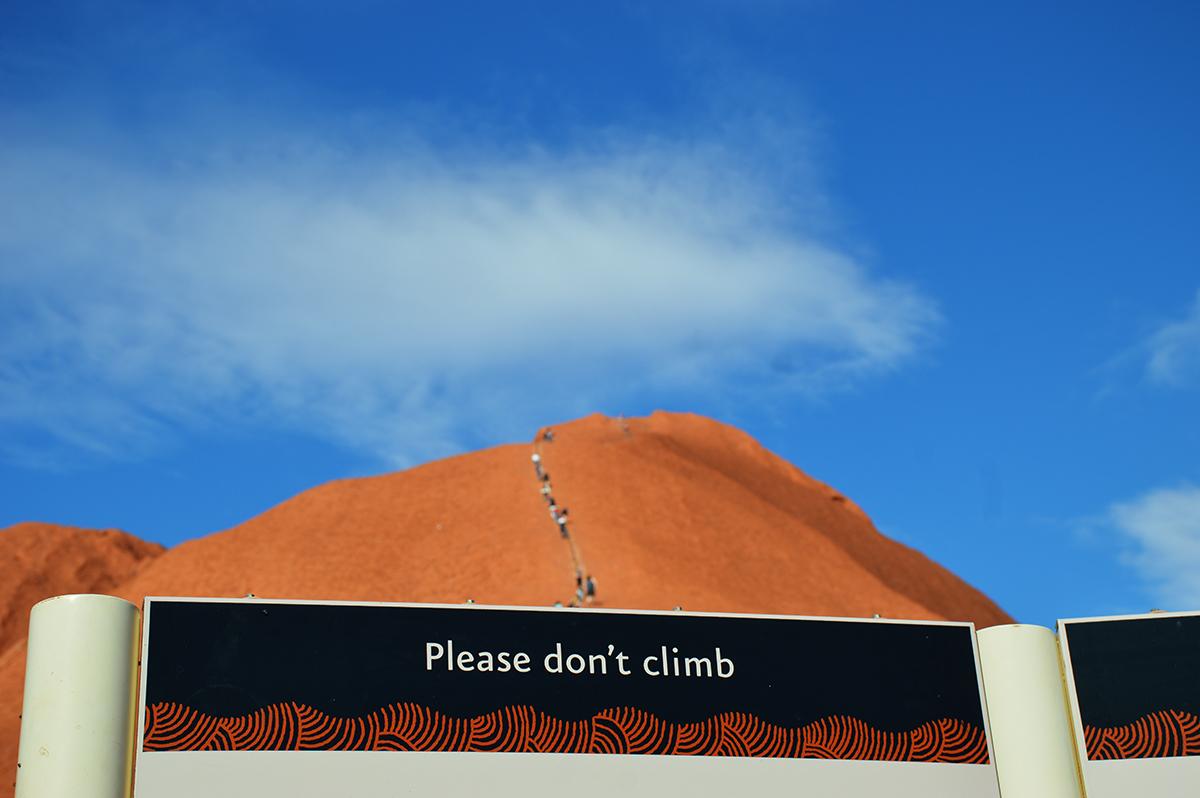 Dont climb Uluru Double-Barrelled Travel