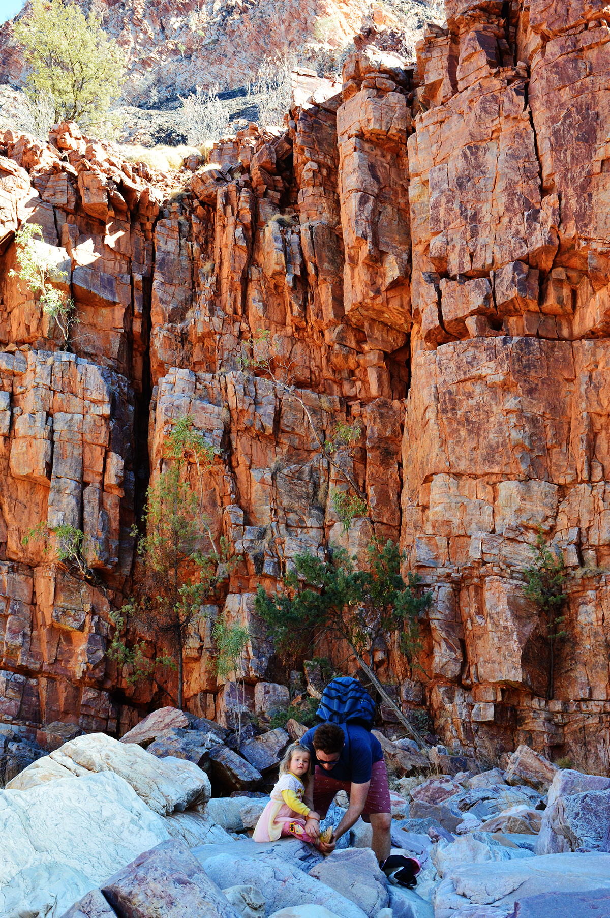 Inside Ormiston Gorge Double-Barrelled Travel