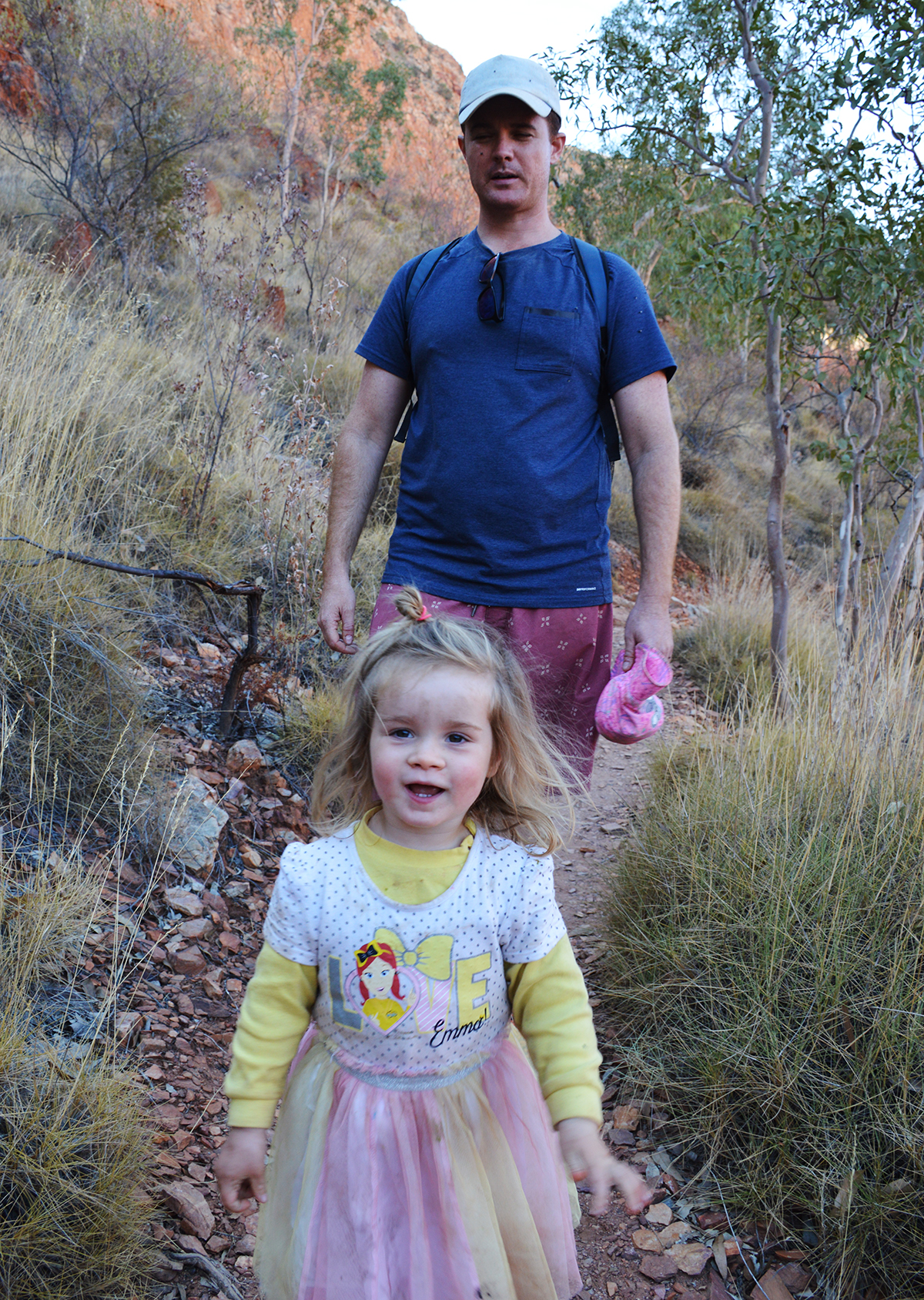 Ruby hiking Ormiston Gorge 2 Double-Barrelled Travel