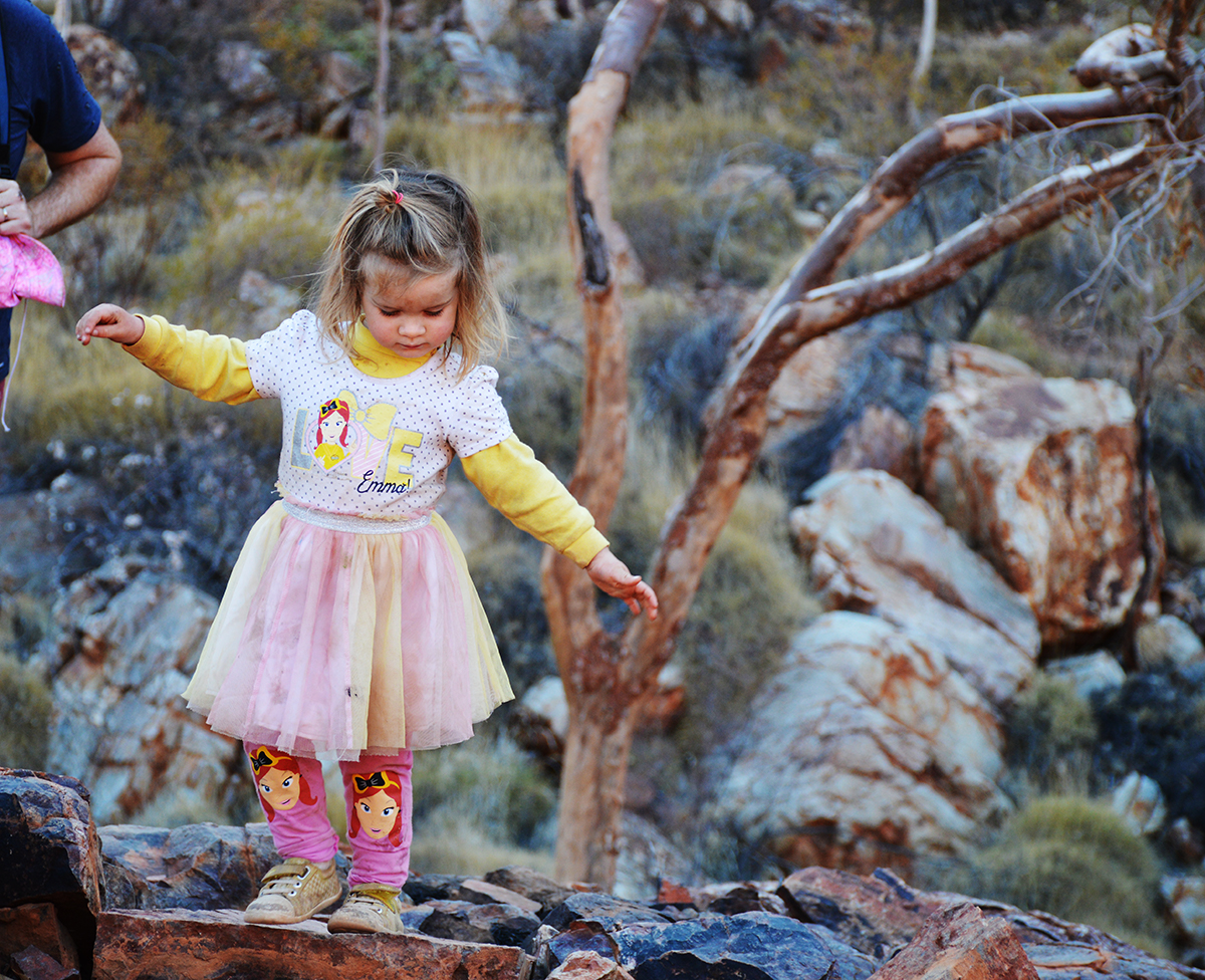 Ruby hiking Ormiston Gorge Double-Barrelled Travel
