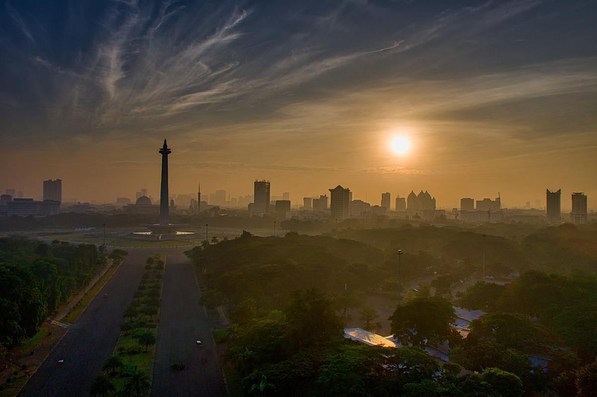 Jakarta sunset Double-Barrelled Travel