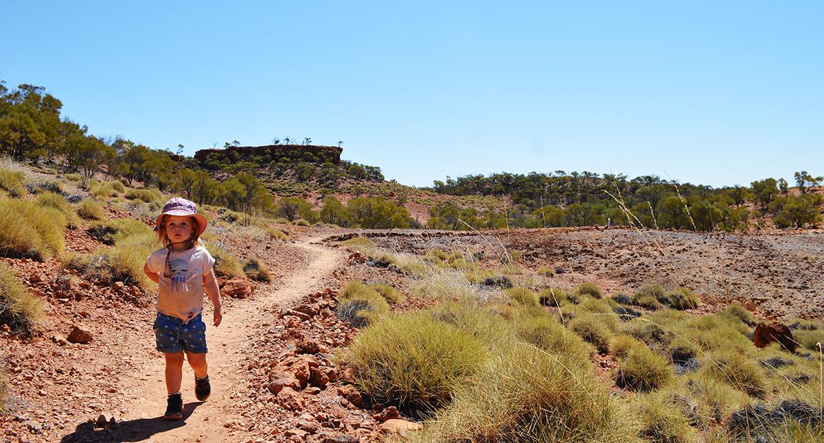 Dinosaur stampede hike Double-Barrelled Travel